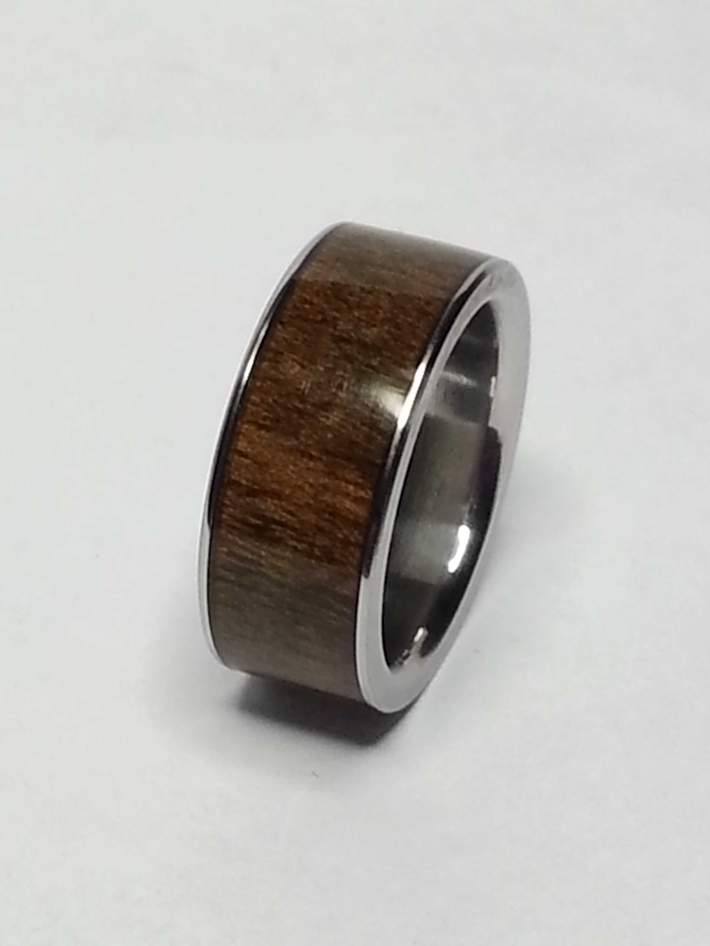 Stainless Steel Ring + American Walnut