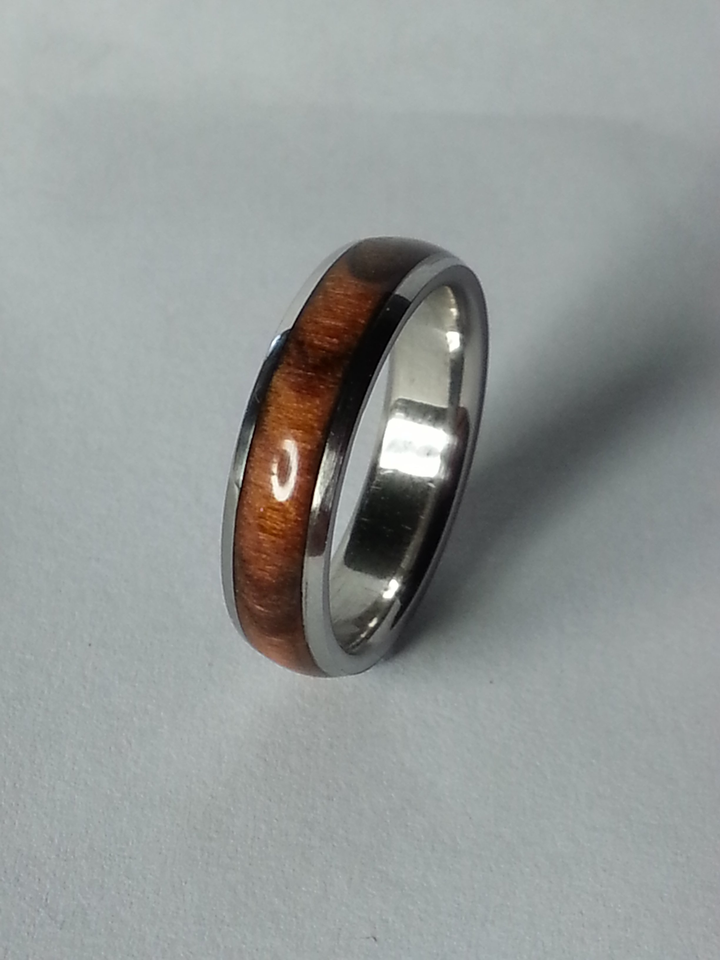 Stainless Steel Ring + Rosewood